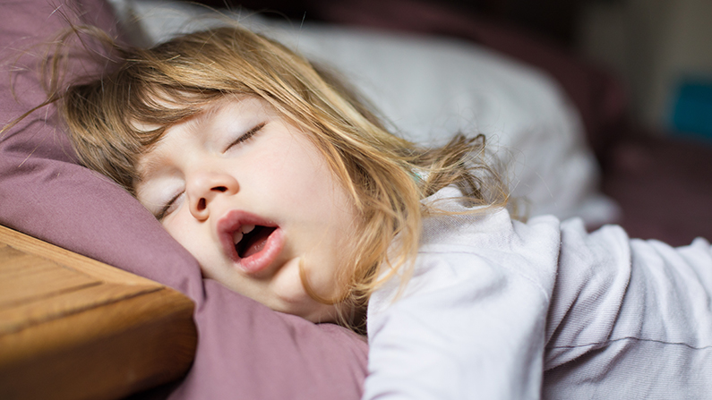 Snoring and sleep apnoea in children